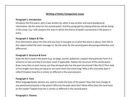 comparing poems practise by magz teaching resources tes essay plan poetry comparison