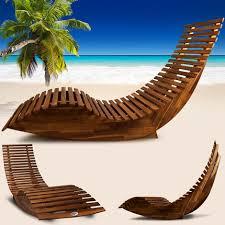 ergonomic wooden garden and sauna lounger rocking function fsc certified acacia wood