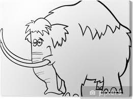 Canvas Mammoet Cartoon Kleurplaat Pixers We Leven Om Te Veranderen