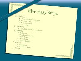 interpretive narrative expository and persuasive ppt five easy steps prewriting drafting revising editing publish