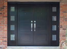 elegant black double door ideas