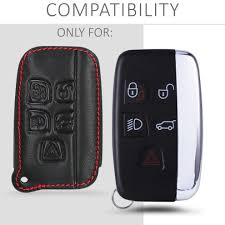 kwmobile land rover jaguar car key cover heavy duty pu leather protective key fob cover