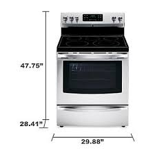kenmore convection oven. kenmore 94193 5.4 cu. ft. electric range w/ convection oven - stainless steel sears