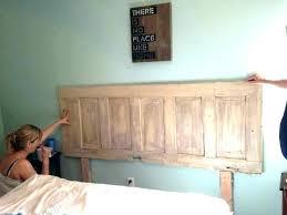 headboard from old door making