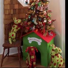 Dog Christmas - might need to put my tree on a dog house so they can't  reach the bottom third and remove ornaments