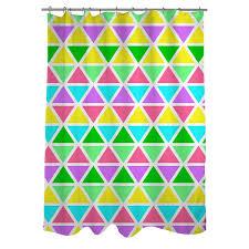 neon party geo pattern shower curtain