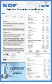 Informe Financiero Bdf Informes Financieros Auditados Separados