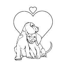 Hondje Puppy Kleurplaat Kleurplaat Hond Met Bloemen Kleurplaten