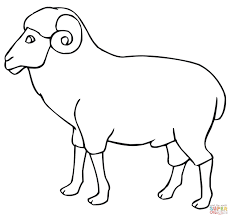 Small Picture Ram Outline coloring page Free Printable Coloring Pages
