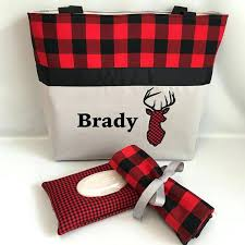 buffalo plaid nursery buffalo plaid and deer diaper bag changing pad buffalo plaid nursery set
