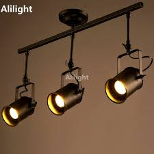 industrial track lighting systems. Retro Loft Vintage LED Track Light Industrial Lamp Bar Clothing Personality Rail Three Heads Lighting Systems O