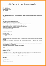 100 Resume Sample Of Driver Letter For Template Objective General