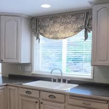 image of kitchen window valances fabric