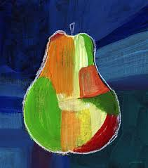 >pear art fine art america pear wall art painting colorful pear abstract painting by linda woods