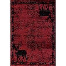 woodside deer gaze red 2 ft x 7 ft area rug