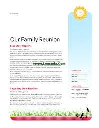 Family Reunion Templates Inspirational Family Newsletter Templates
