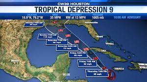Tropical depression 9 expected to hit ...