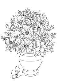 Kleurplaat Bos Bloemen Coloring Page Bunch Of Flowers Kleuplaat