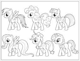 Ideas My Little Pony Characters Coloring Pages For Power Pony