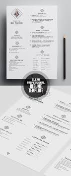 clean modern cv resume templates psd bies professional resume template