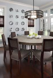 wood round contemporary dining table on large modern dining room tables