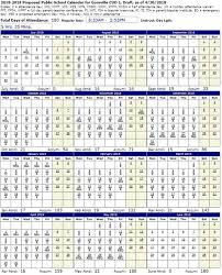 About Us 2018 2019 Proposed School Calendar