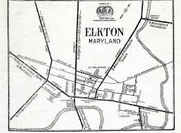 Part of 1919 american automobile association map of elkton md source university of