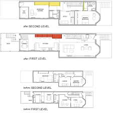 the following is a row small home renovation plan before and after renovation along with an explanation of each part of the room