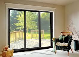 brilliant patio glass sliding doors bronze anodized aluminum sliding patio doors in three panel design