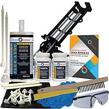 foundation crack repair kit. Perfect Repair Concrete Foundation Crack Repair Kit  UltraLow Viscosity Polyurethane  FLEXKIT1150 On