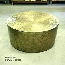 drum coffee table round silver australia with storage