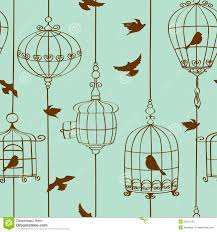 vintage bird iphone wallpaper. Simple Vintage Download Seamless Pattern Of Birds And Cages Stock Vector  Illustration Of  Retro Collection On Vintage Bird Iphone Wallpaper N