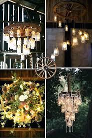 wagon wheel chandelier mason jar metal diy chandel