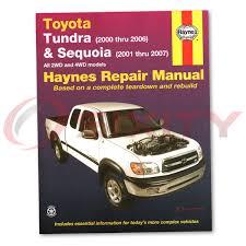 Toyota Tundra Haynes Repair Manual Limited SR5 Base Shop Service ...