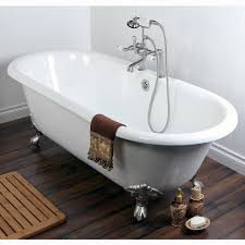 Double Ended Cast Iron 66-inch Clawfoot Bathtub with 7-inch Drillings -  Free Shipping Today - Overstock.com - 15437161