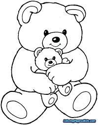 Teddy Bear Coloring Page For Kids Get Well Soon Teddy Bear Coloring
