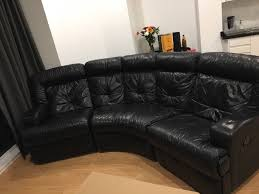 leather corner sofa dfs alleycatthemes dfs leather sofa with recliners in south croydon london gumtree