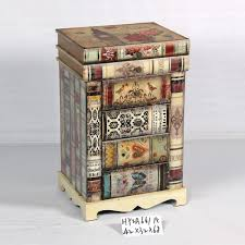Side Cabinets For Living Room Vintage Book Design Living Room Side Cabinet With Three Drawers