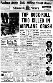 buddy holly plane crash newspaper article. On Buddy Holly Plane Crash Newspaper Article