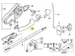 bmw door handle exterior right front rear e53 x5