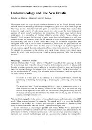 (industrial relations & hr terms) ( modifier) attached to or provided for the staff of an establishment: Pdf Ludomusicology And The New Drastic Isabella Van Elferen Academia Edu