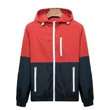 windbreaker men casual spring autumn lightweight jacket 2018 new arrival hooded contrast color zipper up jackets