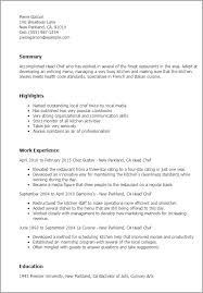 Resume Templates Live Career Inspiration Culinary Resume Templates To Impress Any Employer LiveCareer