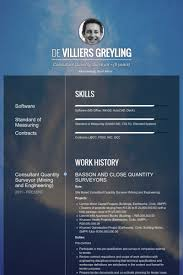 Quantity Surveyor Resume Samples Visualcv Resume Samples Database