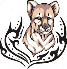 Lví Mládě Tetování Stock Vektor Rorius 12346355