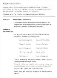 Sample Military Resume Template