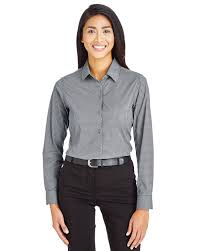 Jones Wear Size Chart Devon Jones Dg535w Ladies Crownlux Performance Tonal Mini Check Shirt