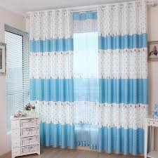 Cute Kids Blue/White Nautical Curtains For Bedroom