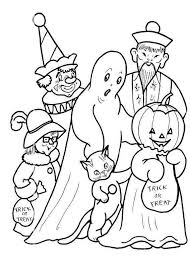 Small Picture Kids Costume And Candy Halloween Coloring Pages Free Hallowen