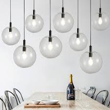 nordic simple clear glass e27 luminarias re led pendant lights rose gold black metal droplight bar counter hanging lamp 90 265v ceiling light fittings